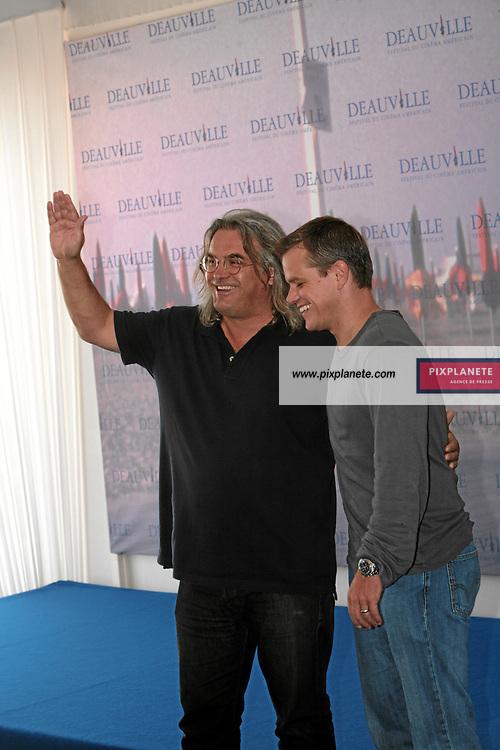 Matt Damon Paul Greengrass - Présentent The Bourne Ultimatum - Photocall - Festival du Film Américain de Deauville - 1/09/2007 - JSB / PixPlanete