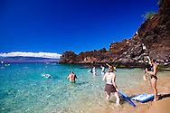 Snorkeling at Kekaa Point, otherwise known as Black Rock