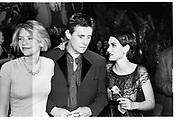 Clare Danes; Gabriel Byrne, Winona Ryder, .  Vanity Fair Oscar Night Party. 1997<br /> Photograph by Dafydd Jones<br /> 66 Stockwell Park Rd. London SW9 0DA<br /> Tel 0171 733 0108