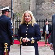 NLD/Den Haag/20130917 -  Prinsjesdag 2013, Minister van Defensie Jeanine Hennis-Plasschaert  met haar partner …..