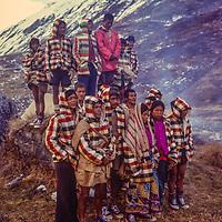 Trekking porters in Annapurna Sanctuary, Nepal