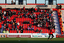 Bristol City fans take their seats in the stand - Photo mandatory by-line: Rogan Thomson/JMP - 07966 386802 - 03/01/2015 - SPORT - FOOTBALL - Doncaster, England - Keepmoat Stadium - Doncaster Rovers v Bristol City - FA Cup Third Round Proper.