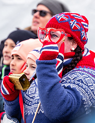 28.02.2019, Seefeld, AUT, FIS Weltmeisterschaften Ski Nordisch, Seefeld 2019, Nordische Kombination, Team Sprung, im Bild ein norwegischer Fans // a norwegian Fan during Team Jumping competition for Nordic Combined of FIS Nordic Ski World Championships 2019. Seefeld, Austria on 2019/02/28. EXPA Pictures © 2019, PhotoCredit: EXPA/ JFK