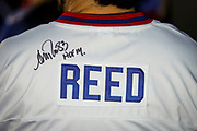 SHOT 12/10/17 1:00:26 PM - Former Buffalo Bills wide receiver and Hall of Fame player Andre Reed signs autographs and meets with fans at LoDo's Bar and Grill in Denver, Co. as the Buffalo Bills played the Indianapolis Colts that Sunday. Reed played wide receiver in the National Football League for 16 seasons, 15 with the Buffalo Bills and one with the Washington Redskins. (Photo by Marc Piscotty / © 2017)