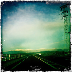 The Clackmannanshire Bridge is a road bridge over the Firth of Forth in Scotland which opened to traffic on Wednesday 19 November 2008..Hipstamatic images taken on an Apple iPhone..©Michael Schofield.