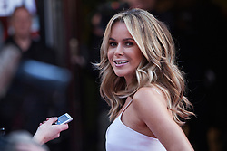 © Licensed to London News Pictures. 11/02/2014. London, UK. Amanda Holden as she attends during Britain's Got Talent 2014 auditions outside the Hammersmith Apollo. Photo credit : Andrea Baldo/LNP
