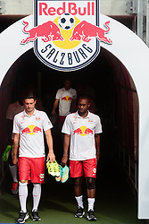 15.07.2015, Red Bull Arena, Salzburg, AUT, 1. FBL, FC Red Bull Salzburg, Fototermin, im Bild v.l.: Marco Djuricin (FC Red Bull Salzburg), Reinhold Yabo (FC Red Bull Salzburg) // during the official Team and Portrait Photoshoot of Austrian Bundesliga Club FC Red Bull Salzburg at the Red Bull Arena in Salzburg, Austria on 2015/07/15. EXPA Pictures © 2015, PhotoCredit: EXPA/ JFK