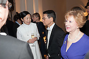 MARIKO MORI; Keiichi Hayashi JAPANESE AMBASSADOR IN LONDON, Mariko Mori opening, Royal Academy Burlington Gardens Gallery. London. 11 December 2012.