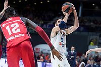 Real Madrid Rudy Fernandez and Baskonia Vitoria Ilimane Diop during Turkish Airlines Euroleague match between Real Madrid and Baskonia Vitoria at Wizink Center in Madrid, Spain. January 17, 2018. (ALTERPHOTOS/Borja B.Hojas)