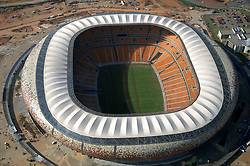 An aerial view of the Soccer City stadium in Johannesburg February 18, 2010.  The 2010 World Cup soccer finals will take place in South Africa from June 11 - July 11. WORLD CUP 2010 PREVIEW - STADIUMS  REUTERS/Euroluftbild.de  (SOUTH AFRICA - Tags: SPORT SOCCER)
