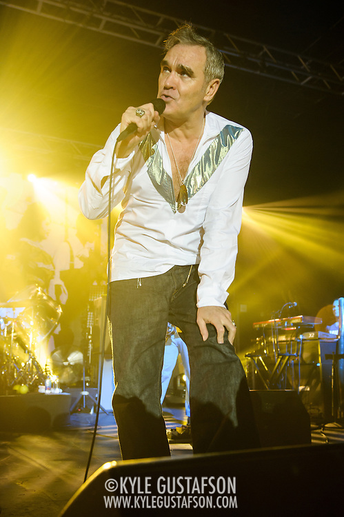 """Morrissey performs at Echostage in Washington, D.C. as part of his """"World Peace Is None of Your Business"""" tour. (Photo by Kyle Gustafson)"""