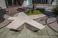 Modern Zen park bench