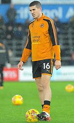 Conor Coady of Wolverhampton Wanderers warms up -Mandatory by-line: Nizaam Jones/JMP- 17/01/2018 - FOOTBALL - Liberty Stadium- Swansea, Wales - Swansea City v Wolverhampton Wanderers - Emirates FA Cup third round proper