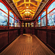 Photo of the trolley car in the Streets of Old Milwaukee at the Milwaukee County Museum.
