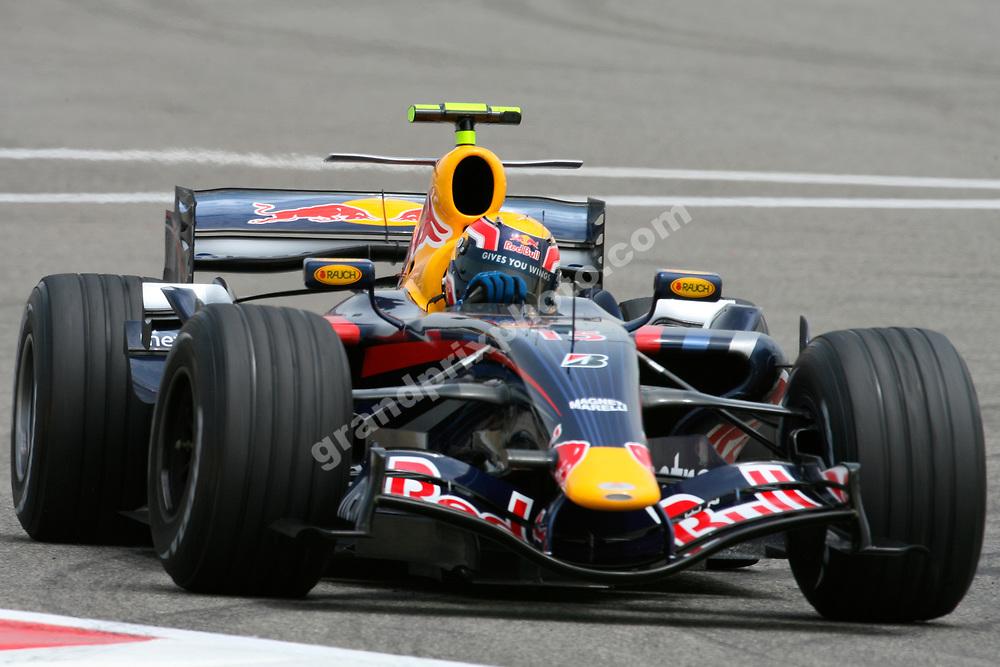 Mark Webber (Red Bull-Renault) in practice for the 2007 Bahrain Grand Prix. Photo: Grand Prix Photo