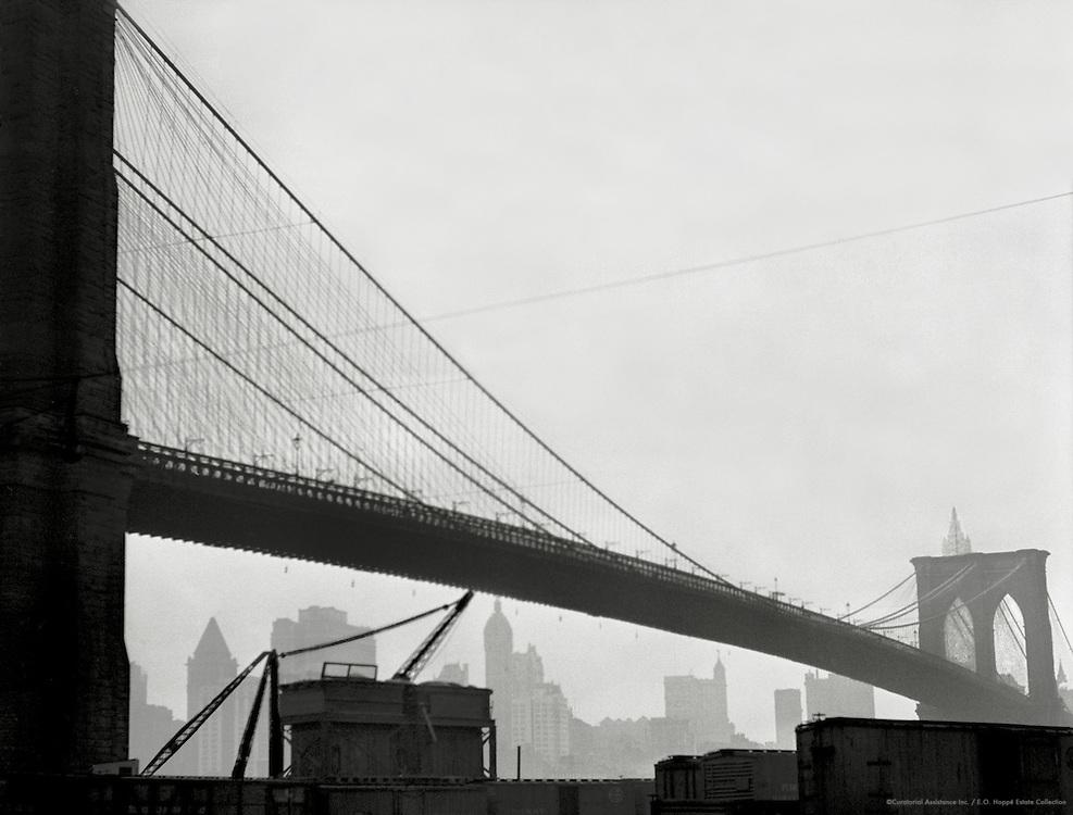 Span of the Brooklyn Bridge, New York, 1921
