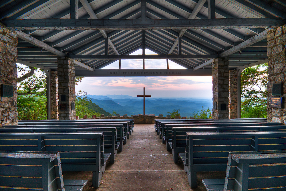 Pretty Place Chapel at YMCA Camp Greenville in SC. A stunning open air chapel with one of the most breathtaking views.
