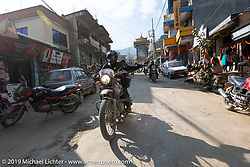 Photographer Ashwin Goswami of India in Motorcycle Sherpa's Ride to the Heavens motorcycle adventure in the Himalayas of Nepal. Riding from Daman back to Kathmandu. Wednesday, November 13, 2019. Photography ©2019 Michael Lichter.