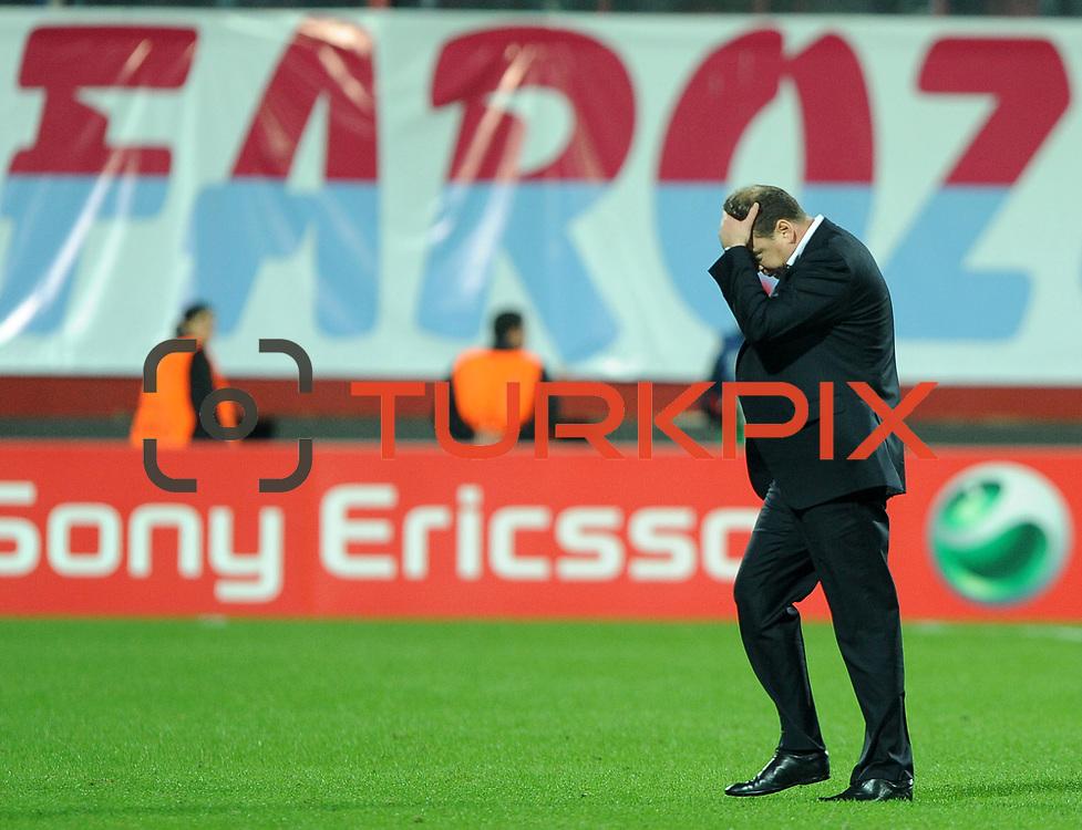 CSKA Moskva's coach Leonid SLUTSKI during their UEFA Champions League group stage matchday 4 soccer match Trabzonspor between CSKA Moskva at the Avni Aker Stadium at Trabzon Turkey on Wednesday, 02 November 2011. Photo by TURKPIX