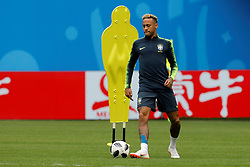 June 21, 2018 - Saint Petersburg, Russia - Neymar of Brazil national team attends a Brazil national team training session during the FIFA World Cup 2018 on June 21, 2018 at Saint Petersburg Stadium in Saint Petersburg, Russia. (Credit Image: © Mike Kireev/NurPhoto via ZUMA Press)