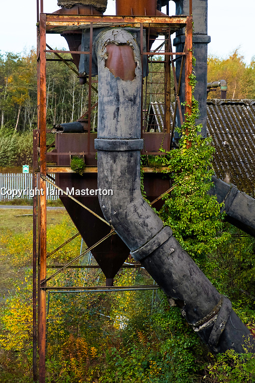 Old machinery at National Mining Museum at Newtongrange in Scotland, United Kingdom.