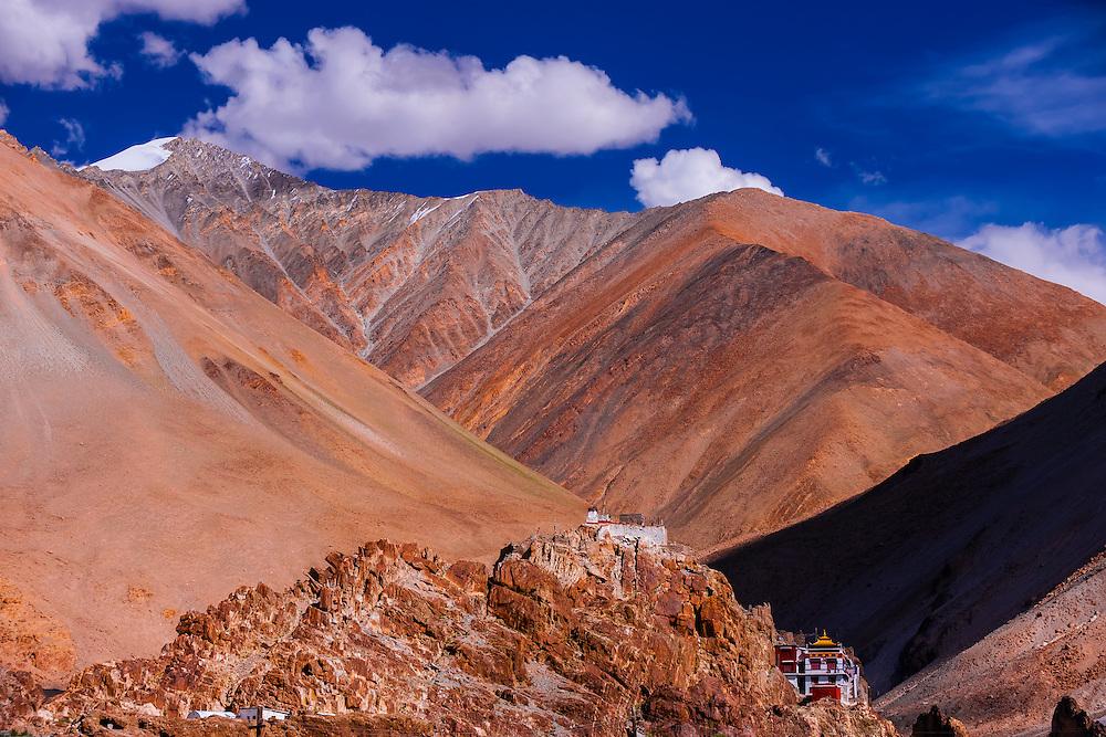 Tangtse Monastery, Ladakh, Jammu and Kashmir State, India.