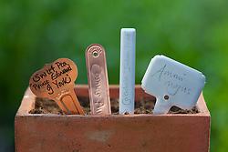 Metal plant labels