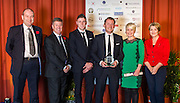 The winners of the 2015 Scottish Border Business Award the Manufacturer of the Year:Giacopazzi's Wholesale Ice Cream, Eyemouth.  Sponsored by Davidson Chalmers LLP.  Kerry Waddell, represented Giacopazzi's Wholesale Ice Cream <br /> <br /> The 2015 Scottish Border Business Awards, held at Springwood Hall, Kelso. The awards were run by the Scottish Borders Chambers of Commerce, with guest speaker Keith Brown, MSP. The SBCC chairman Jack Clark and the presenter Fiona Armstrong co hosted the event.