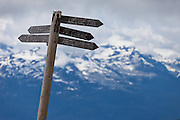 Signpost, Whistler, British Columbia, Canada,