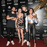 Celebrities attend the Official launch party for the annual Gumball 3000 Rally took place at Proud Embankment on August 4 2018, London, UK.