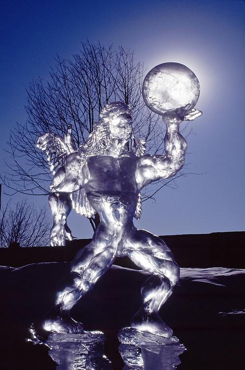Ice sculpture, International Ice Sculpting contest, Anchorage, Alaska.