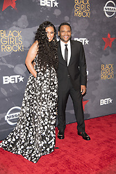 August 6, 2017 - New Jersey, U.S - BEVERLY BOND, and ANTHONY ANDERSON, at the Black Girls Rock 2017 red carpet. Black Girls Rock 2017 was held at the New Jersey Performing Arts Center in Newark New Jersey. (Credit Image: © Ricky Fitchett via ZUMA Wire)