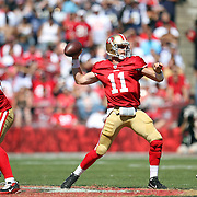 San Francisco 49ers quarterback Alex Smith (11) during an NFL football game between the Dallas Cowboys and the San Francisco 49ers at Candlestick Park on Sunday, Sept. 18, 2011 in San Francisco, CA.  (Photo/Alex Menendez)