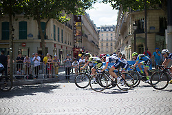 Nicole Hanselmann (SUI) of Cervélo-Bigla Cycling Team rides in the peloton during the La Course, a 89 km road race in Paris on July 24, 2016 in France.