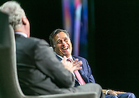 Mitt Romney at his chat with General Electrics CEO Jeff Immelt