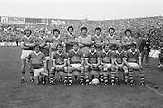 The Kerry team before the All Ireland Senior Gaelic Football Final Dublin v Kerry in Croke Park on the 26th September 1976. Dublin 3-08 Kerry 0-10. <br /> P O'Mahony, G O'Keeffe, J O'Keeffe (capt.), J Deenihan, P Ó' Sé, T Kennelly, G Power, P Lynch, P McCarthy, D ''Ogie'' Moran, M Sheehy, M O'Sullivan, B Lynch, J Egan, P Spillane, Subs C Nelligan for P O'Mahony, S Walsh for P McCarthy, G O'Driscoll for M O'Sullivan.
