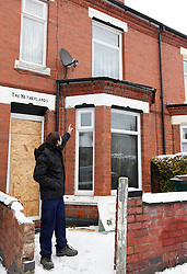 ©London News Pictures. 22/12/2010. TODAY PICTURE Matthew Dyke, 30 a neighbour who rescued a woman, believed to be the wife of the deceased from the property.  On seeing the fire Mr Dyke grabbed a set of ladders from his dining room and rescued the woman from the front of the house.  Sadly, the man and boy were elsewhere in the house and Mr Dyke was unable to the reach them.  The fire crew broke down the front door and attempted to save the vitcims, however they were pronounced dead at the scene.  The woman has been taken to a local hospital with minor injuries.  Neither the man or the boy have been named.  The scene of a fatal fire in Hollis Road, Coventry. A man and a young boy have died after a house fire caused by a chip pan left unattended on a cooker, emergency services said today. Photo credit should read Alison Baskerville/London News Pictures
