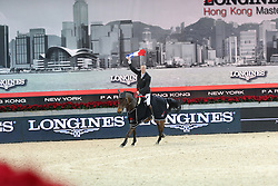 Delaveau Patrice (FRA) - Lacrimoso 3 HDC<br /> CSI 5* Longines Hong Kong Masters 2013<br /> Winner of the Longines Grand Prix<br /> © Hippo Foto - Counet Julien