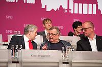 DEU, Deutschland, Germany, Berlin, 27.10.2012:<br />Landesparteitag der Berliner SPD im Berliner Congress Center (BCC) am Alexanderplatz. Hier v.l.n.r.: Klaus Wowereit, Regierender Bürgermeister von Berlin, Ottmar Schreiner (MdB, SPD), Jan Stöß, Vorsitzender des SPD-Landesverbandes Berlin.