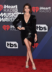 2018 iHeartRadio Music Awards. The Forum, Inglewood, California. Pictured: Marshmello. EVENT March 11, 2018. 11 Mar 2018 Pictured: Sarah Hyland. Photo credit: AXELLE/BAUER-GRIFFIN/MEGA TheMegaAgency.com +1 888 505 6342