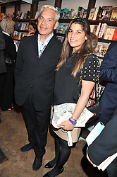 SIMON REUBEN and his daughter LISA VALK at a party to celebrate the publication of Sandra Howard's new book - Ex-Wives held at Daunt Books, 83 Marylebone High Street, London W1 on 30th April 2012.