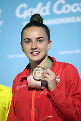 England's Lois Toulson with her bronze medal following the Women's 10m Platform at the Optus Aquatic Centre during day eight of the 2018 Commonwealth Games in the Gold Coast, Australia.