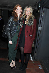 Left to right, LARA HUGHES YOUNG and OLIVIA HUNT at a party at the nightclub Public, King's Road, London to celebrate the launch of Public Verbier held on 17th November 2011.