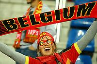 A fan of Belgium celebrates during the UEFA European Championship 2016 qualifying Group B football match between Andorra and Belgium on October 10, 2015 at The Estadi Nacional in Andorra la Vella, Andorra. <br /> Photo Manuel Blondeau/AOP Press/DPPI