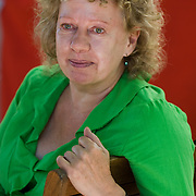 EDINBURGH, SCOTLAND - AUGUST14. Author Michele Roberts poses during a portrait session held at Edinburgh Book Festival on August 14, 2006  in Edinburgh, Scotland. (Photo by Marco Secchi/Getty Images).