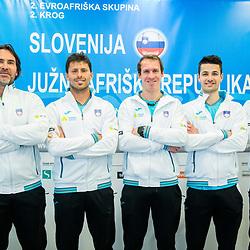 20170330: SLO, Tennis - Team Slovenia for Davis Cup against South African Republic