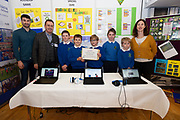 24/11/2019 repro free:<br />  Paul Mee (2nd from rhs) Chairman Galway Science and Technology Festival with Ballymana National school teachers  Eoin Feen and  Louise Tierney and young Scientists Gavin Martyn John Donnellan Alex Wujkowski Alisha Moran and Jason Greaney at the Galway Science and Technology Festival  at NUI Galway where over 20,000 people attended exhibition stands  from schools to Multinational Companies . Photo:Andrew Downes, xposure