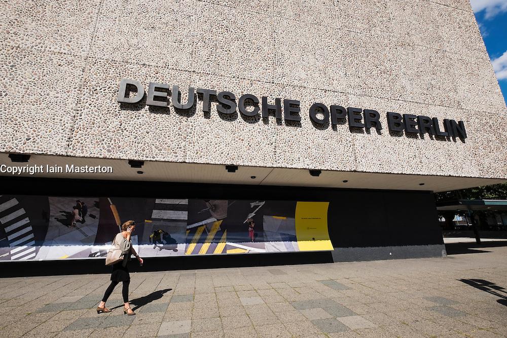 Exterior view of Deutsche Oper  the German Opera house in Berlin Germany