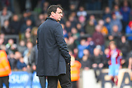 Gary Bowyer of Bradford City (Manager) looks on during the EFL Sky Bet League 1 match between Scunthorpe United and Bradford City at Glanford Park, Scunthorpe, England on 27 April 2019.