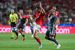 September 19, 2018 - Lisbon, Portugal - Benfica's Portuguese defender Ruben Dias vies with Bayern Munich's midfielder Franck Ribery from France during the UEFA Champions League Group E football match SL Benfica vs Bayern Munich at the Luz stadium in Lisbon, Portugal on September 19, 2018. (Credit Image: © Pedro Fiuza/NurPhoto/ZUMA Press)